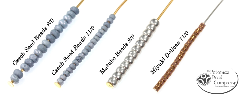 Czech Seed Beads Matubo Beads & Miyuki Delicas Sizing