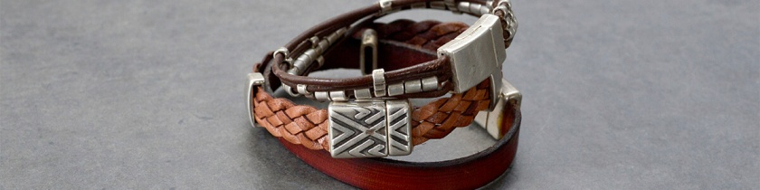 Blog - Men's Jewelry - metal and leather-3