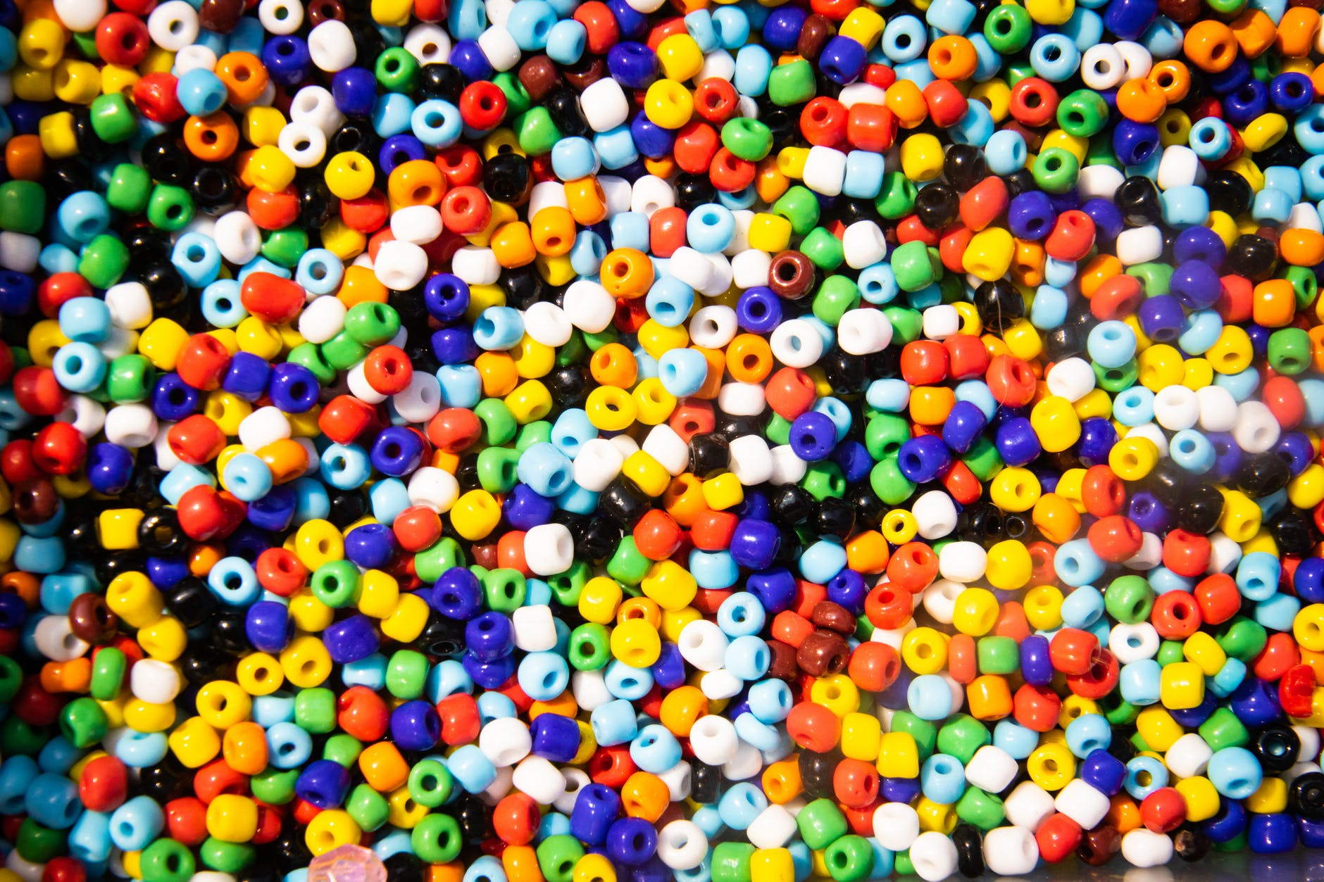 assorted color beads